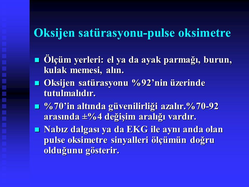 Oksijen satürasyonu-pulse oksimetre