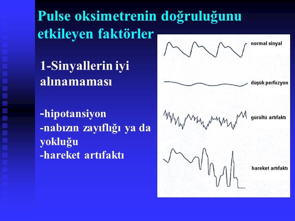 Pulse oksimetrenin doğruluğunu etkileyen faktörler