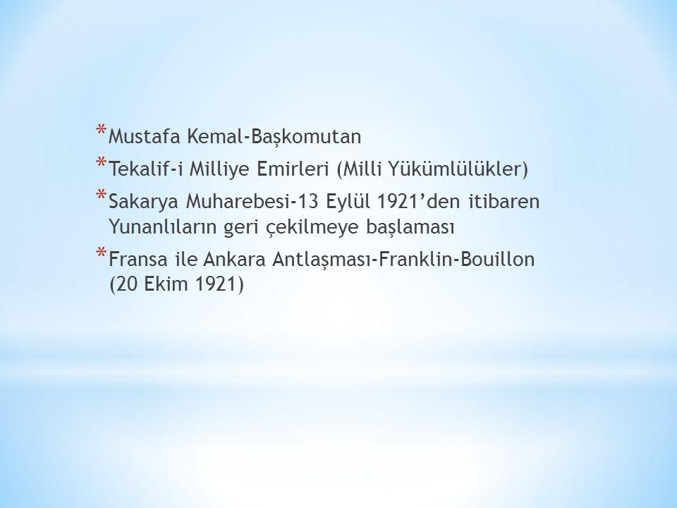 Mustafa Kemal-Başkomutan