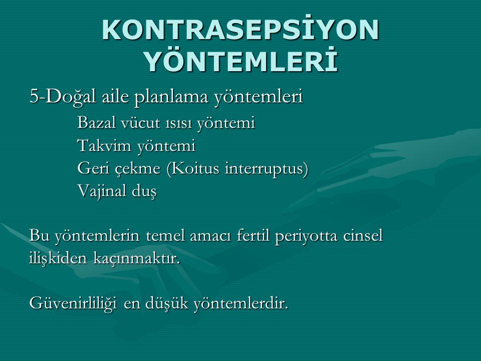 KONTRASEPSİYON YÖNTEMLERİ