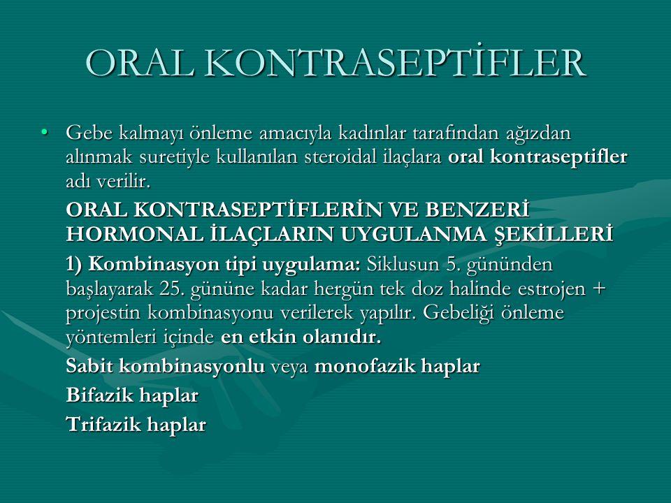 ORAL KONTRASEPTİFLER
