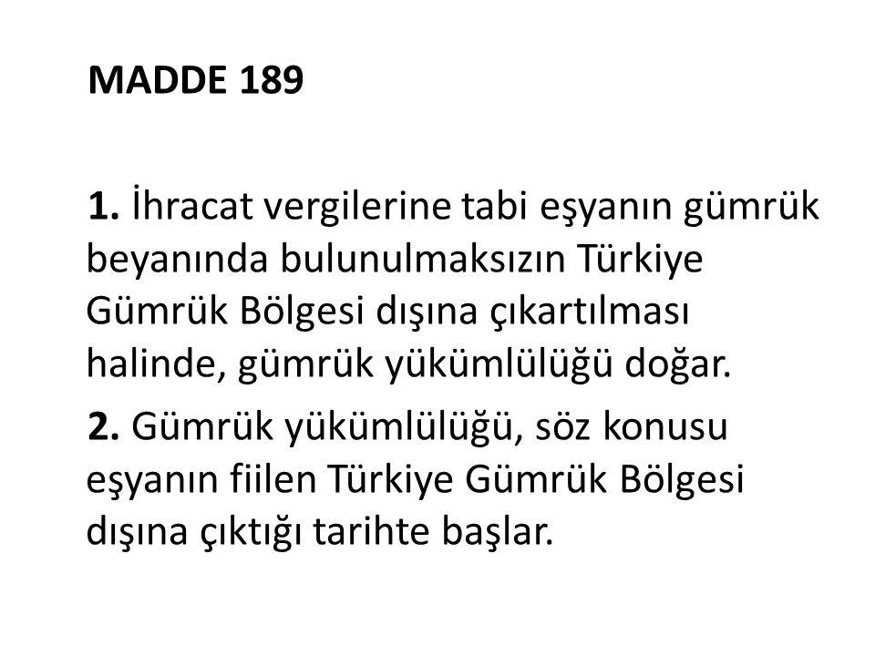 MADDE 189 1.
