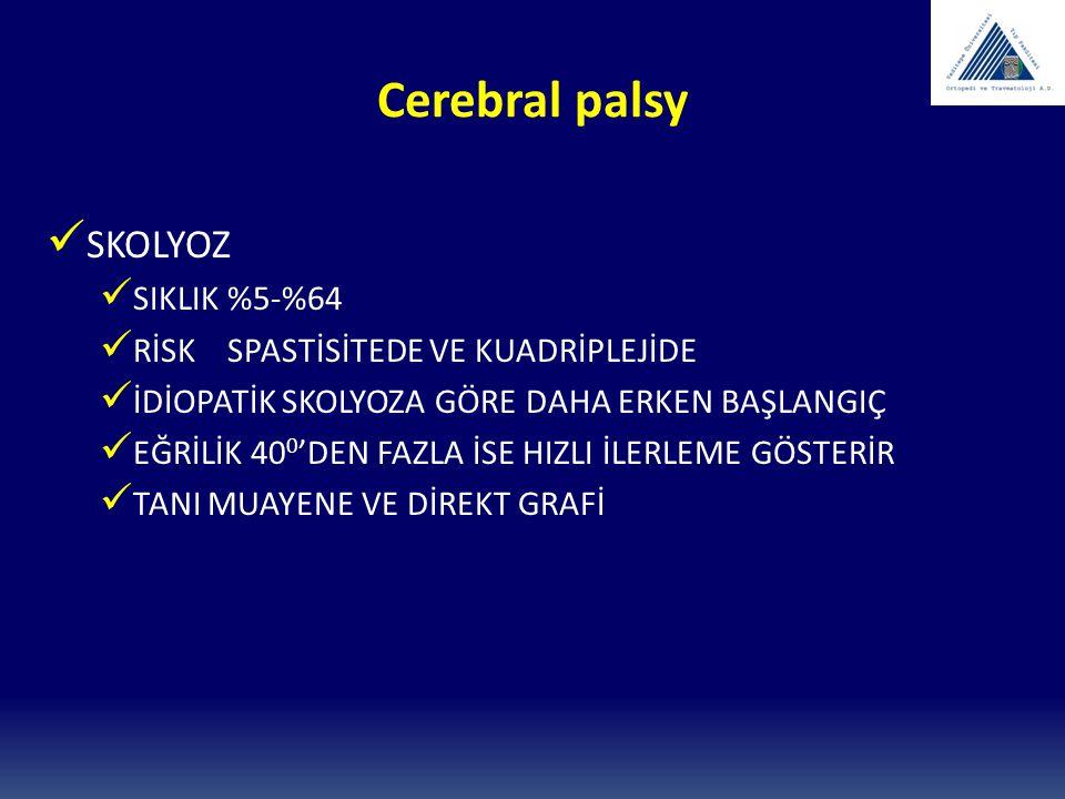 Cerebral palsy SKOLYOZ SIKLIK %5-%64
