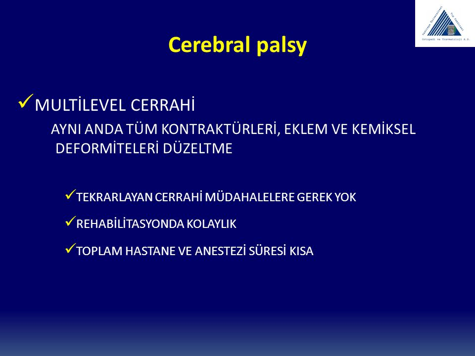 Cerebral palsy MULTİLEVEL CERRAHİ