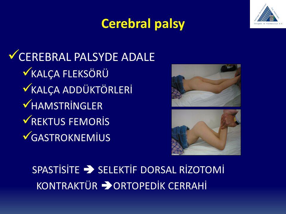 Cerebral palsy CEREBRAL PALSYDE ADALE KALÇA FLEKSÖRÜ