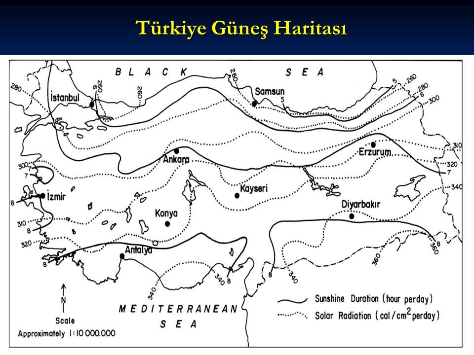 Türkiye Güneş Haritası