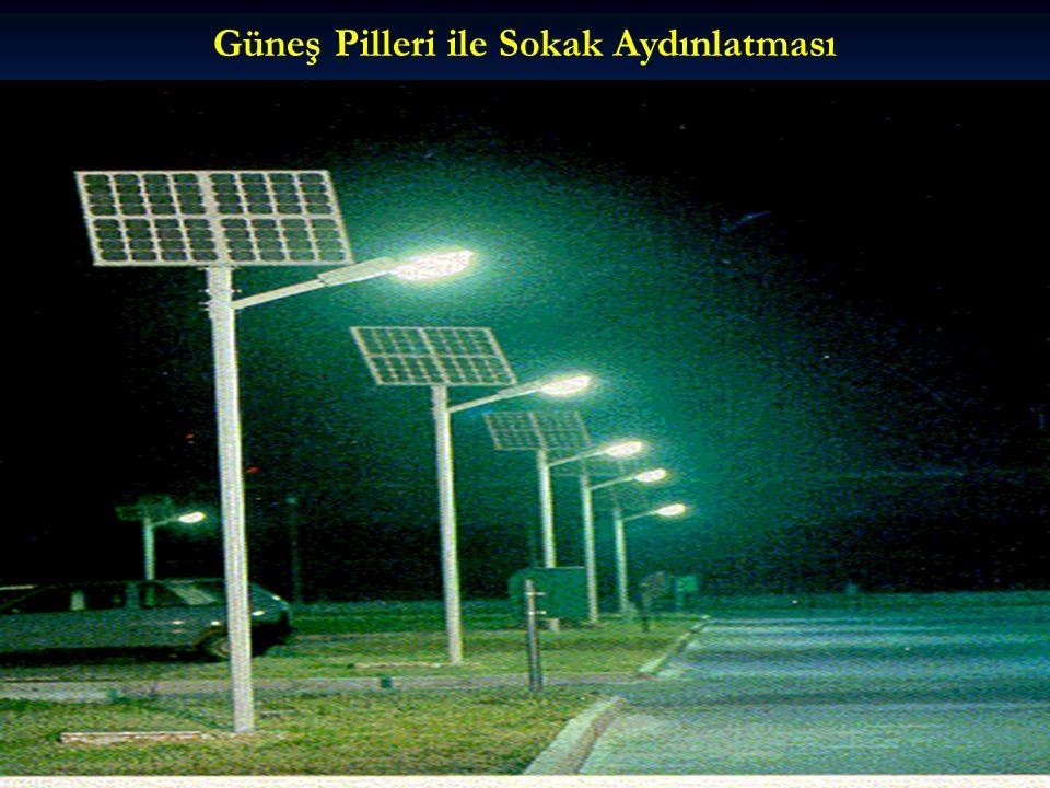Güneş Pilleri ile Sokak Aydınlatması