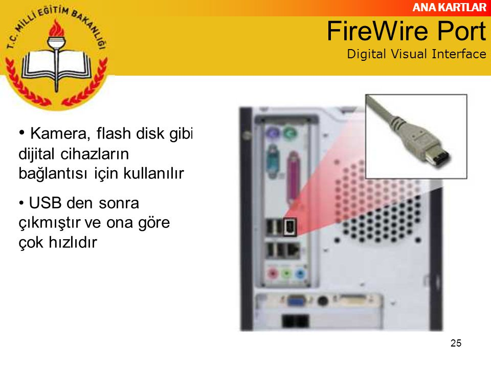 FireWire Port Digital Visual Interface