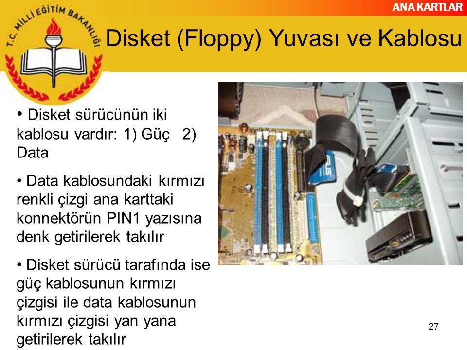 Disket (Floppy) Yuvası ve Kablosu