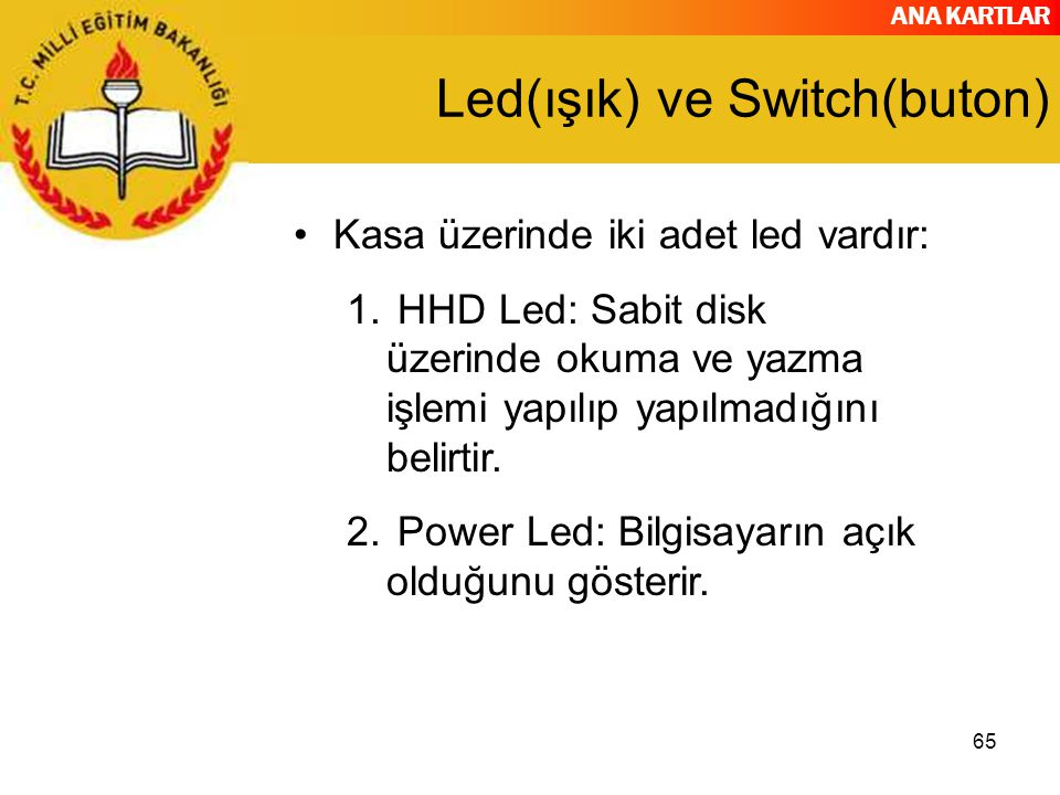 Led(ışık) ve Switch(buton)