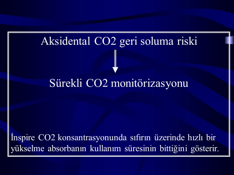 Aksidental CO2 geri soluma riski