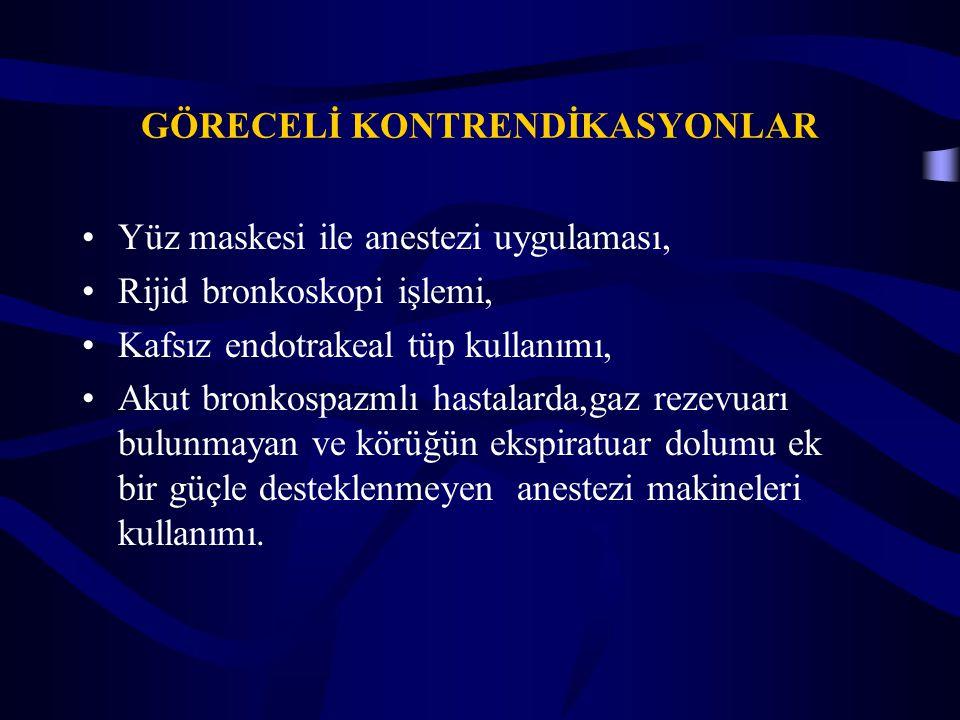 GÖRECELİ KONTRENDİKASYONLAR