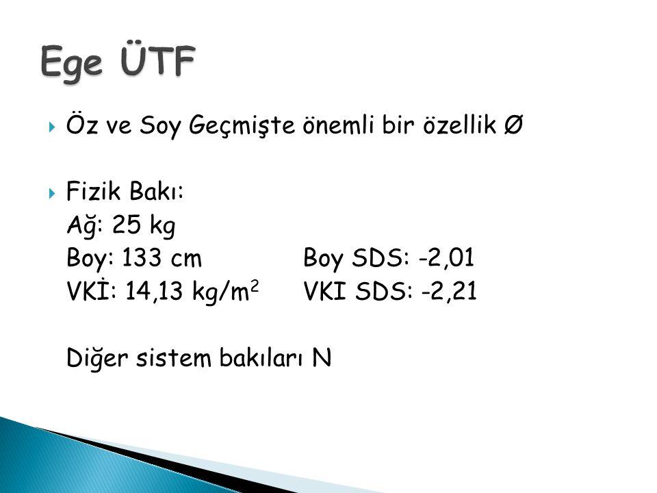 Ege ÜTF Öz ve Soy Geçmişte önemli bir özellik Ø Fizik Bakı: Ağ: 25 kg