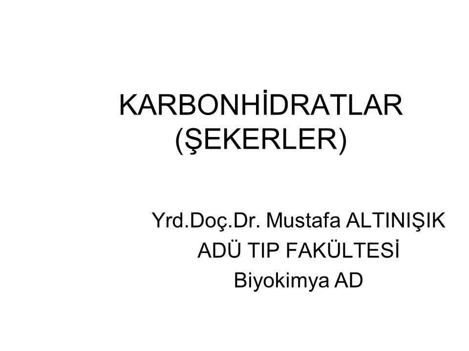 KARBONHİDRATLAR (ŞEKERLER)