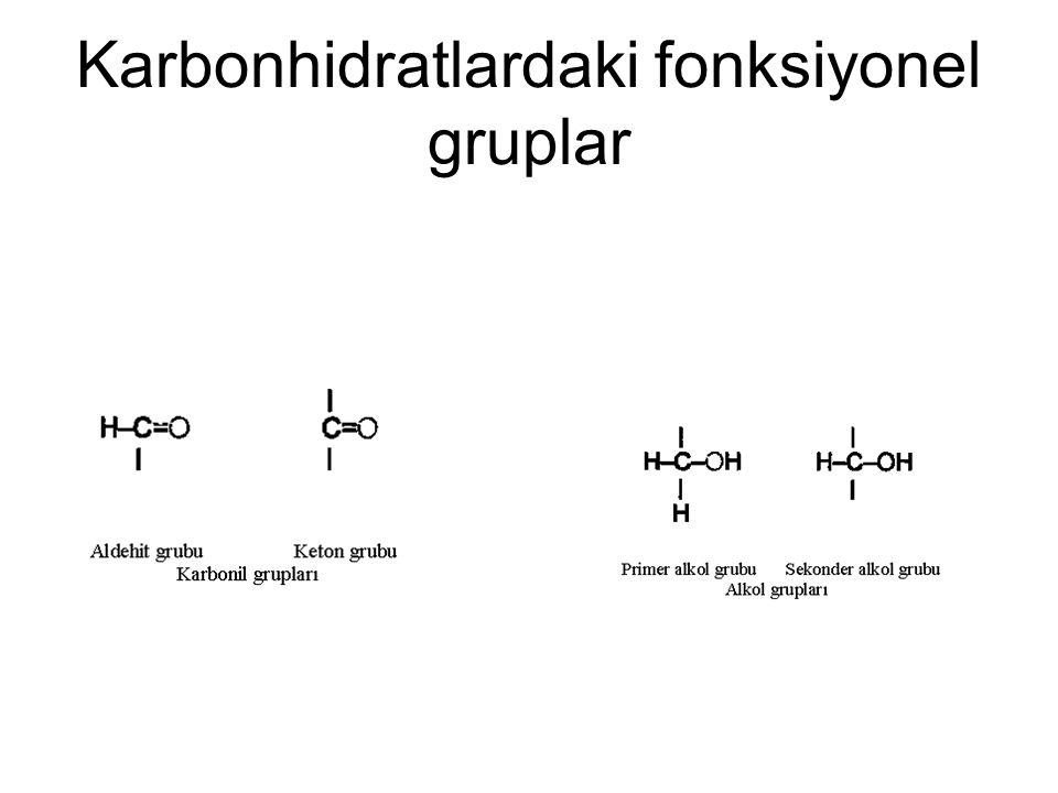 Karbonhidratlardaki fonksiyonel gruplar