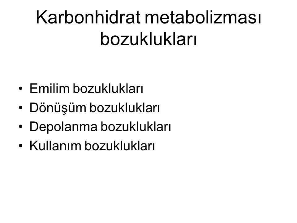 Karbonhidrat metabolizması bozuklukları
