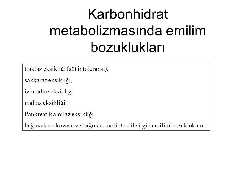 Karbonhidrat metabolizmasında emilim bozuklukları