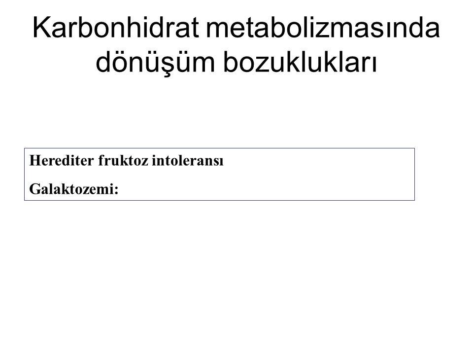 Karbonhidrat metabolizmasında dönüşüm bozuklukları