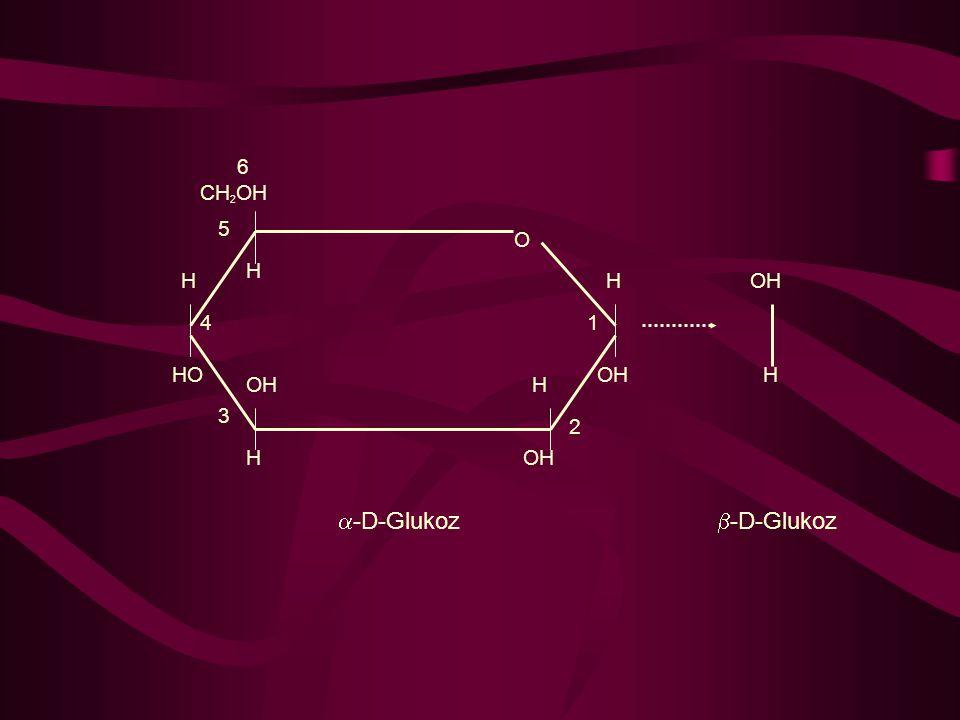 H CH2OH 6 5 HO 4 OH 3 2 1 O -D-Glukoz -D-Glukoz