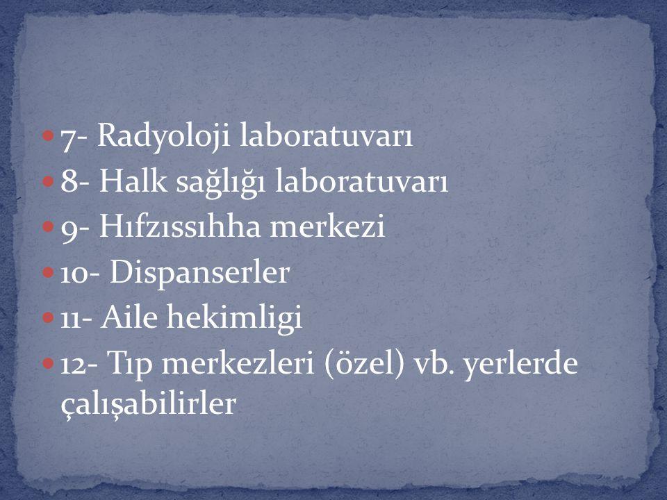 7- Radyoloji laboratuvarı