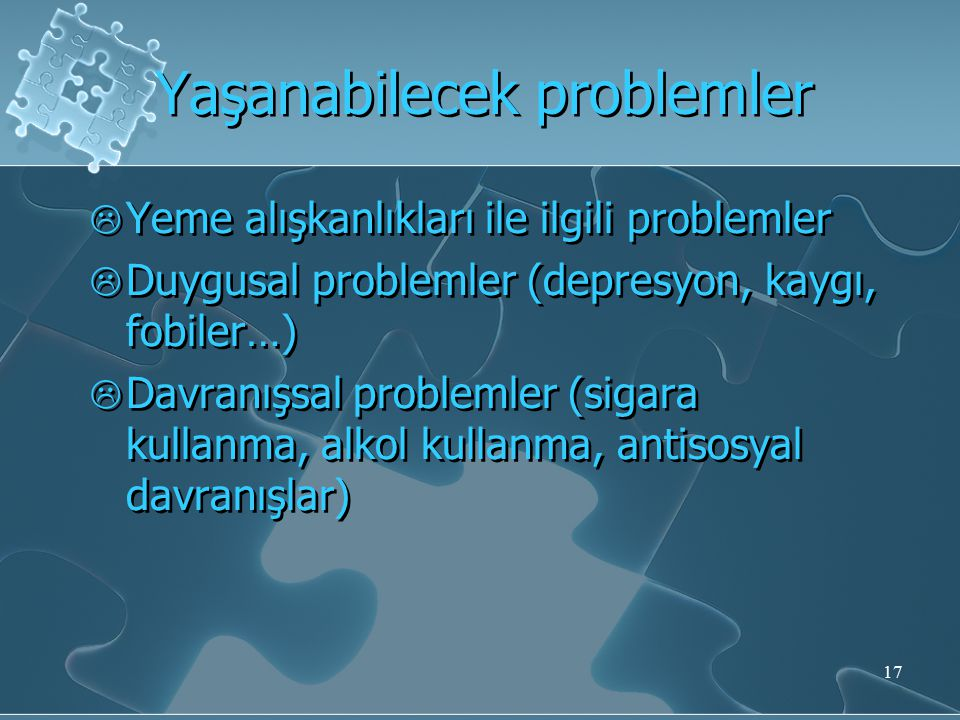 Yaşanabilecek problemler