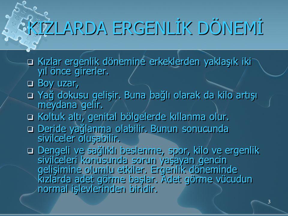 KIZLARDA ERGENLİK DÖNEMİ