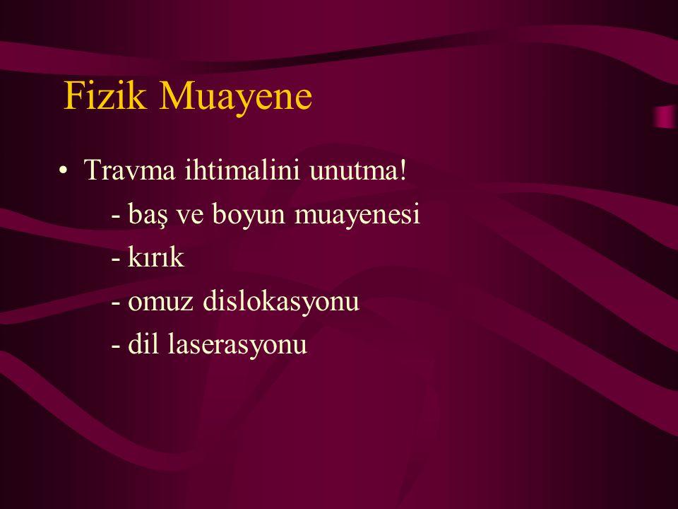 Fizik Muayene Travma ihtimalini unutma! - baş ve boyun muayenesi