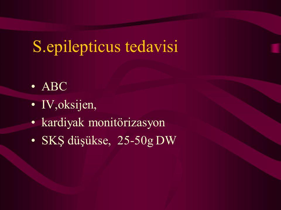 S.epilepticus tedavisi