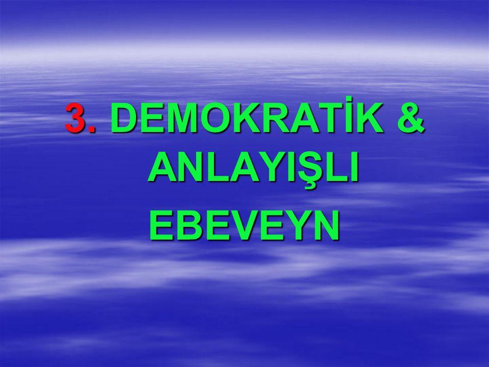 3. DEMOKRATİK & ANLAYIŞLI