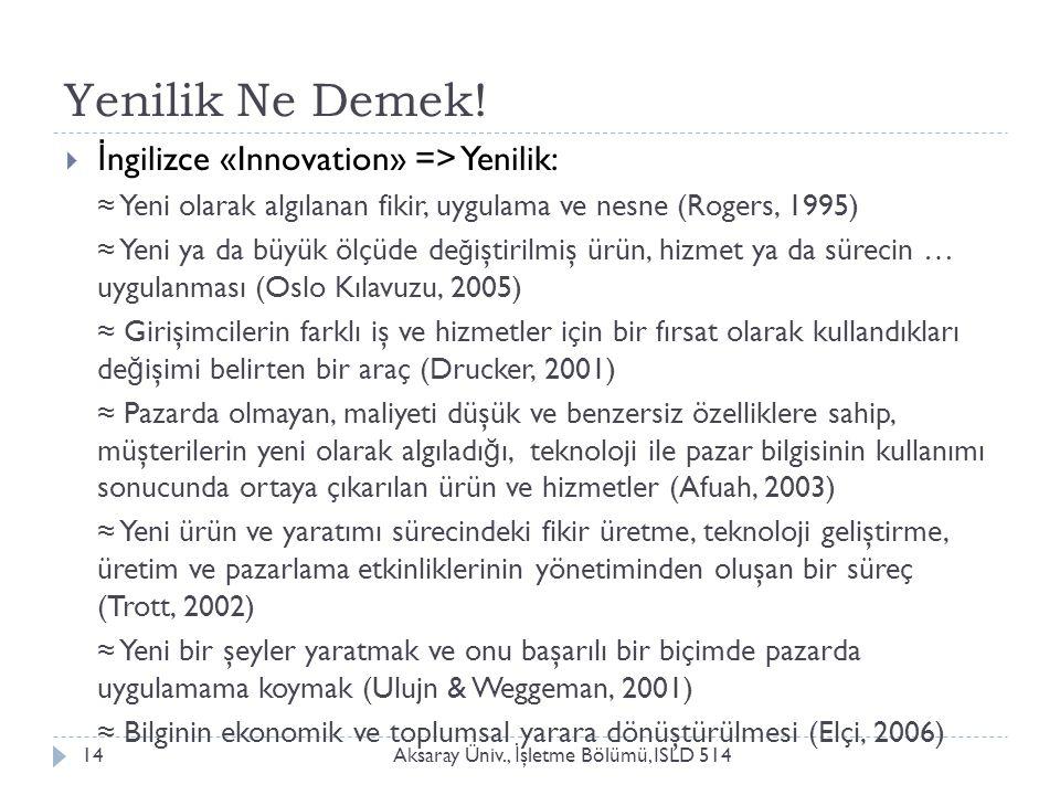 Yenilik Ne Demek! İngilizce «Innovation» => Yenilik: