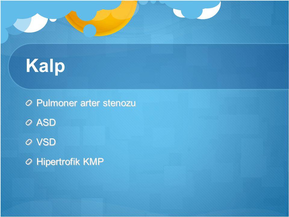 Kalp Pulmoner arter stenozu ASD VSD Hipertrofik KMP