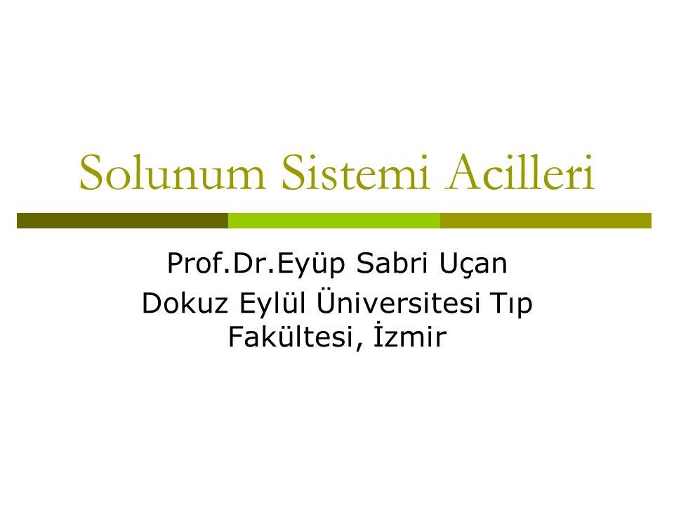 Solunum Sistemi Acilleri