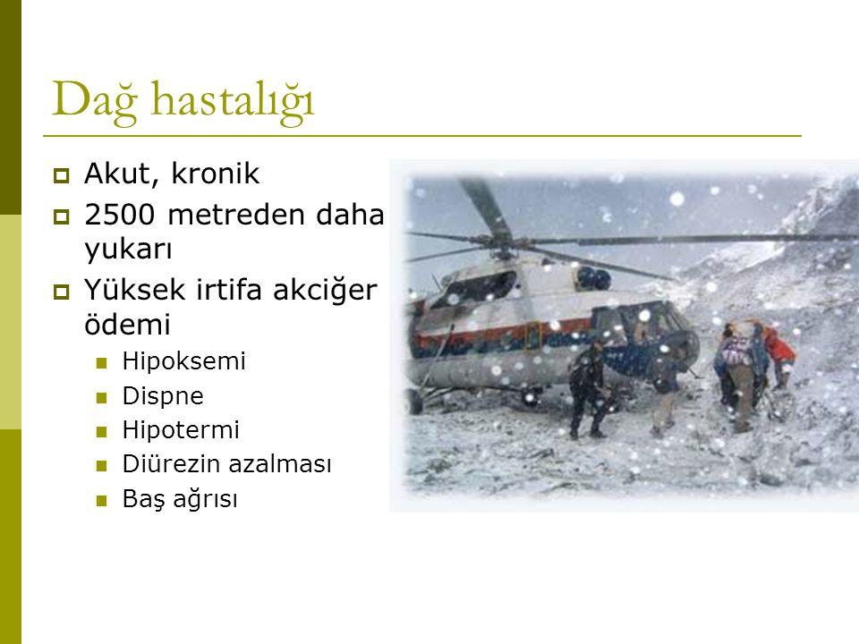 Dağ hastalığı Akut, kronik 2500 metreden daha yukarı