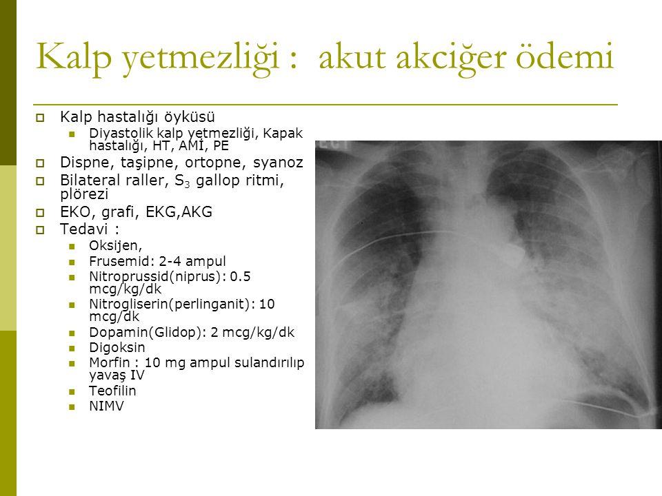 Kalp yetmezliği : akut akciğer ödemi