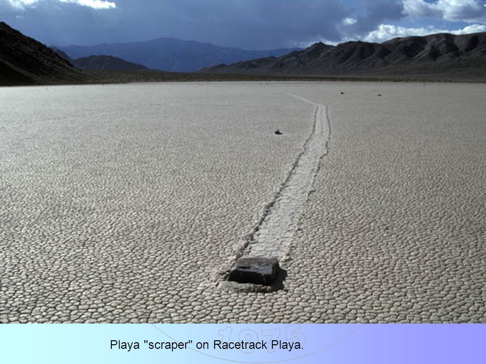 Playa scraper on Racetrack Playa.