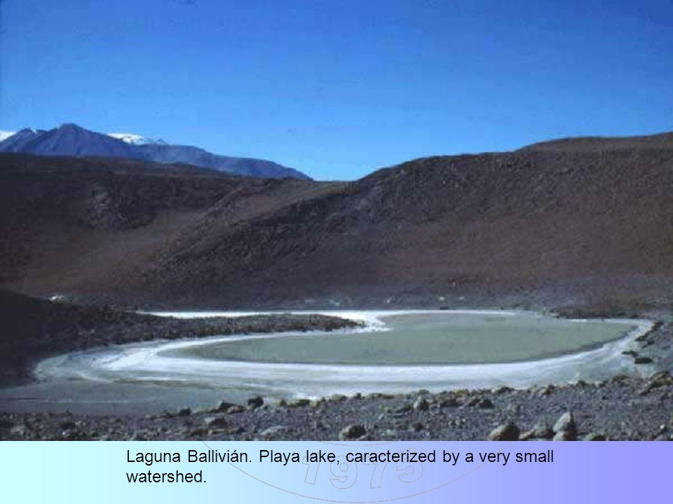 Laguna Ballivián. Playa lake, caracterized by a very small watershed.