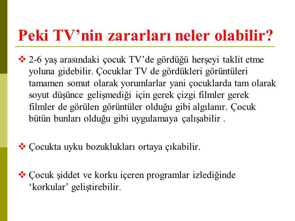 Peki TV'nin zararları neler olabilir