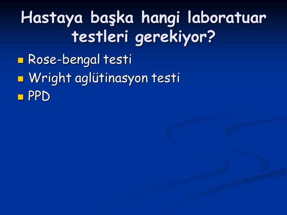 Hastaya başka hangi laboratuar testleri gerekiyor