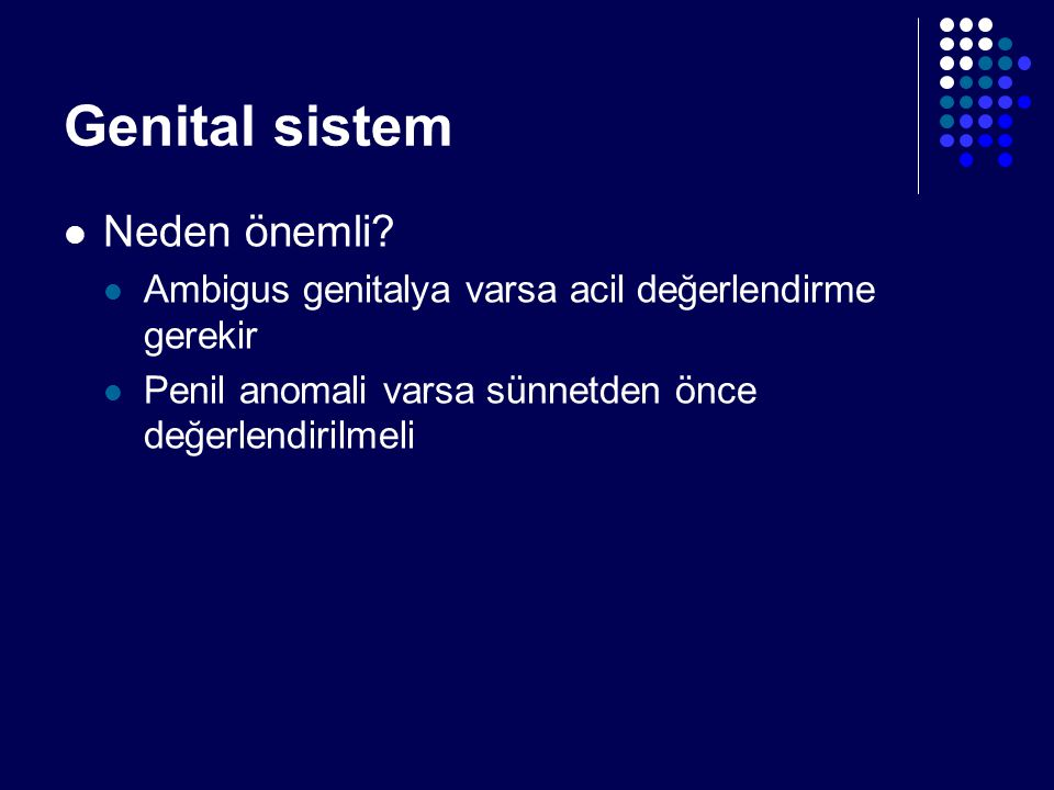 Genital sistem Neden önemli