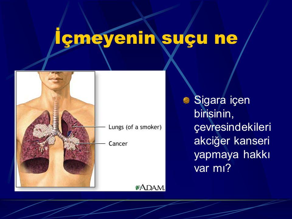 İçmeyenin suçu ne Sigara içen birisinin, çevresindekileri akciğer kanseri yapmaya hakkı var mı