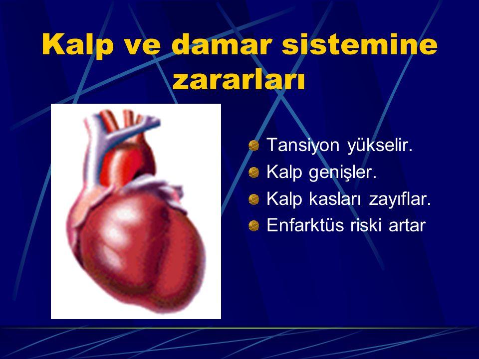 Kalp ve damar sistemine zararları