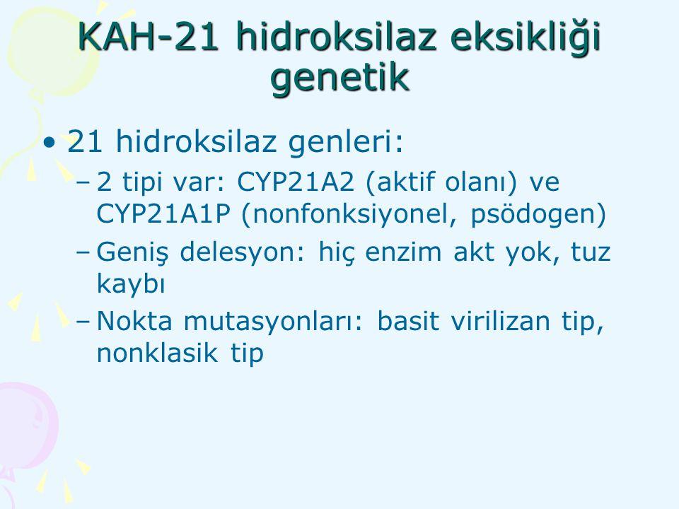 KAH-21 hidroksilaz eksikliği genetik