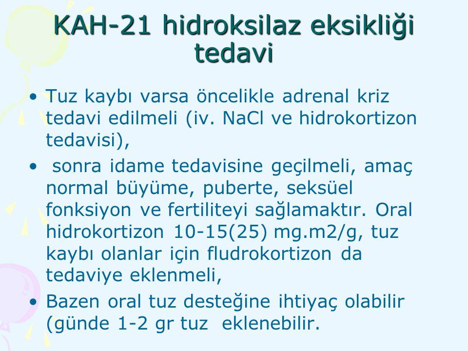 KAH-21 hidroksilaz eksikliği tedavi