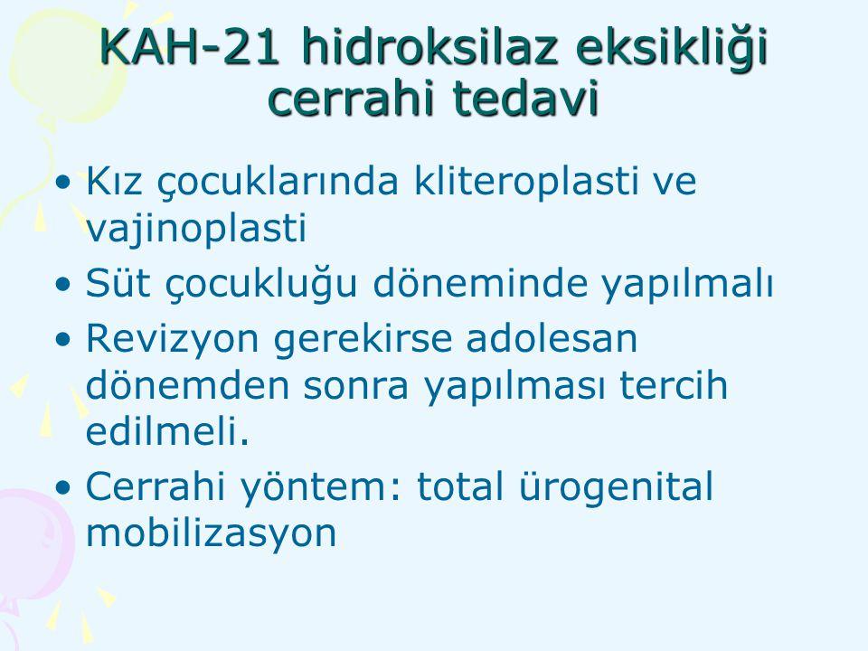 KAH-21 hidroksilaz eksikliği cerrahi tedavi
