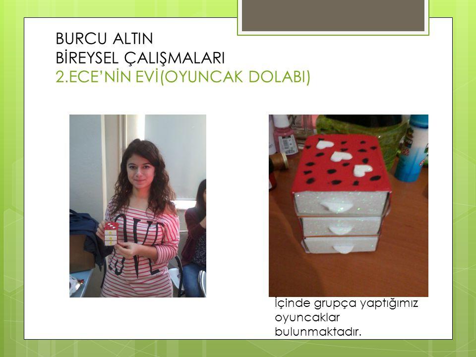 BURCU ALTIN BİREYSEL ÇALIŞMALARI 2.ECE'NİN EVİ(OYUNCAK DOLABI)