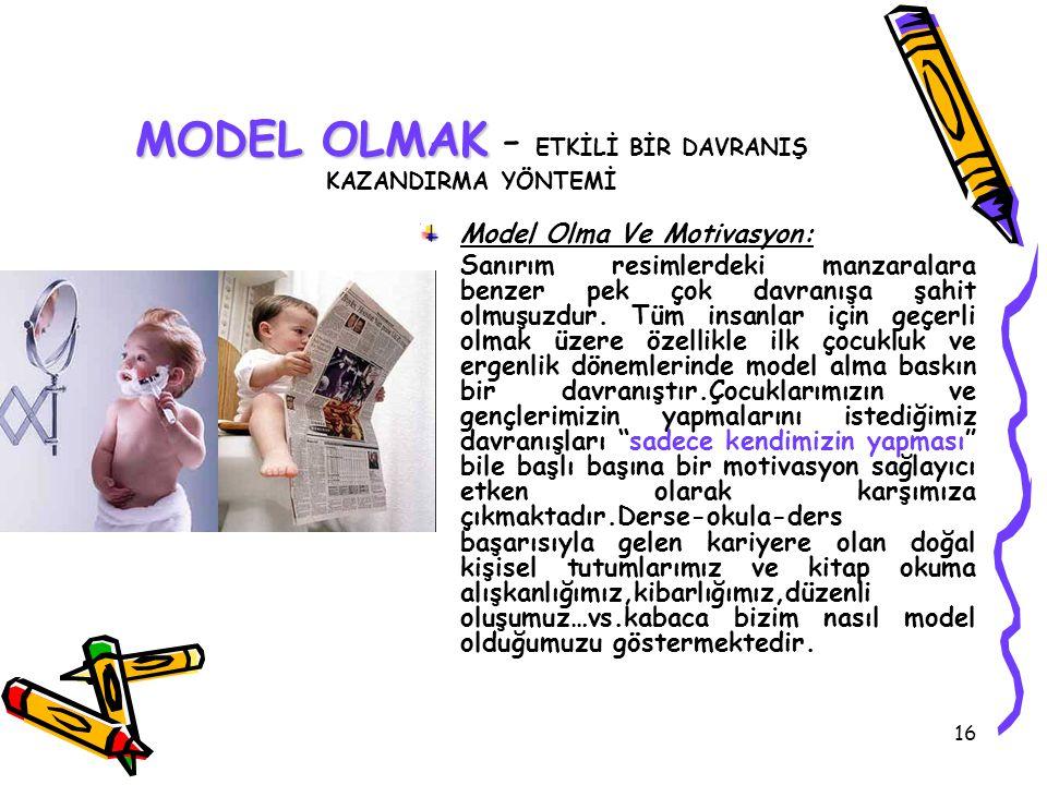MODEL OLMAK - ETKİLİ BİR DAVRANIŞ KAZANDIRMA YÖNTEMİ