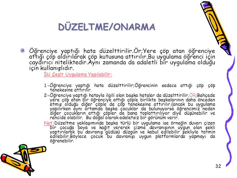 DÜZELTME/ONARMA