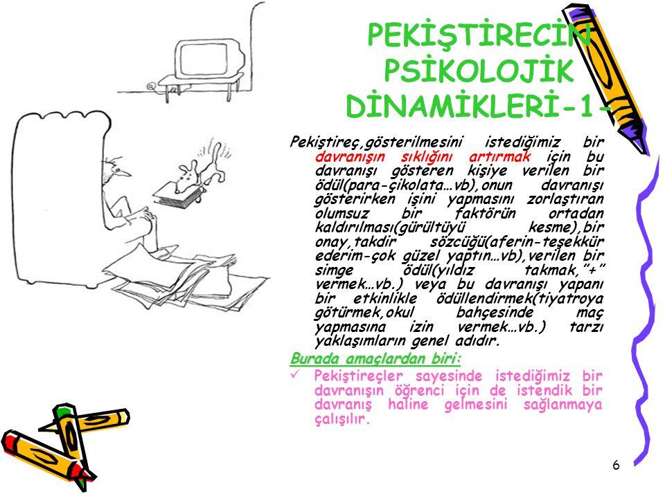 PEKİŞTİRECİN PSİKOLOJİK DİNAMİKLERİ-1-