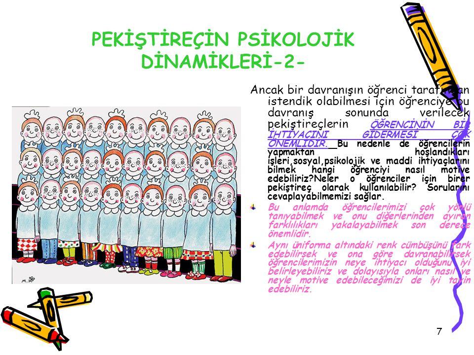 PEKİŞTİREÇİN PSİKOLOJİK DİNAMİKLERİ-2-