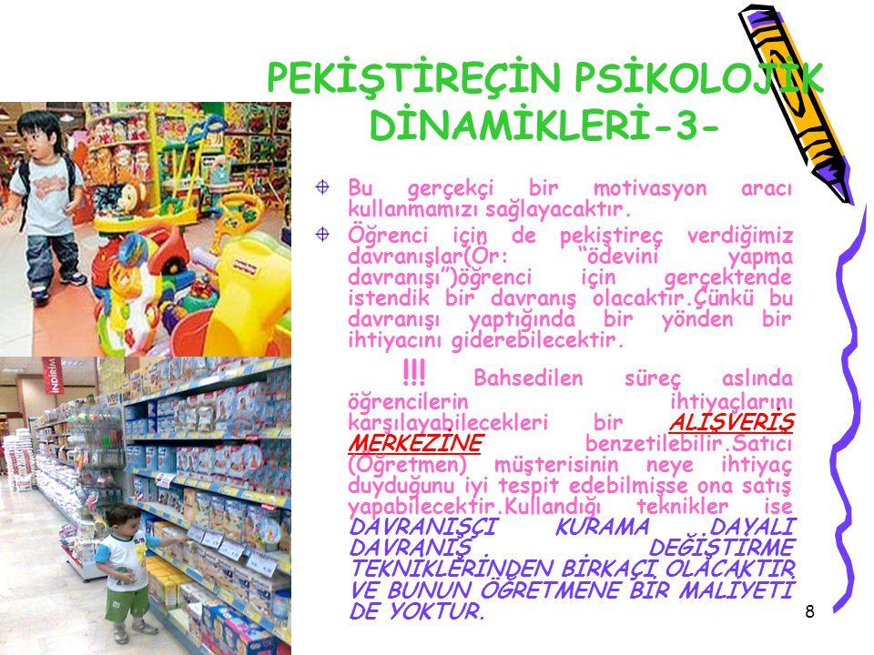 PEKİŞTİREÇİN PSİKOLOJİK DİNAMİKLERİ-3-